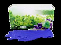 Перчатки нитриловые неопудренные, фиолетовые, 100пар/упаковка