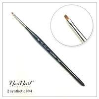 NeoNail Кисть №4 для дизайна 2 плоская (синтетика)