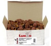 Колпачки абразивные коричневые   LUKAS(Германия) - d 13мм.