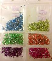 Заклепки на ногти - Круглые цветные 2мм