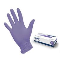 Перчатки NitriMax нитриловые неопудренные, лиловые, 50пар/упаковка