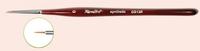 Roubloff Кисть для гелевого дизайна ногтей и росписи гель-лаками и гель-красками Синтетика - под Колонок бордовая фигурная ручка