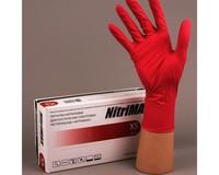 Перчатки NitriMax нитриловые неопудренные, красные, 50пар/упаковка