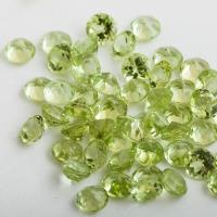 """Фианит """"Перидот"""" (светло-зеленый) премиум"""