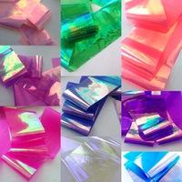 """Фольга для дизайна """"Битое стекло"""" - набор 10 цветов по 25см."""