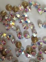 """NEW!!! Ювелирные кристаллы конусные """"Crystal AB"""" крупные"""