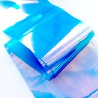 """Фольга для дизайна """"Битое стекло"""" голубая"""