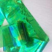 """Фольга для дизайна """"Битое стекло""""  зеленая"""