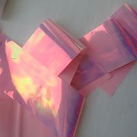 """Фольга для дизайна """"Битое стекло"""" нежно-розовая"""