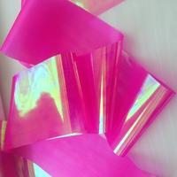 """Фольга для дизайна """"Битое стекло"""" неоновая розовая"""